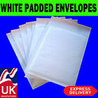 WHITE BUBBLE PADDED ENVELOPES MAILERS BAGS STRONG PAPER *ALL SIZES / QTY'S*