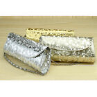 Vintage Stone Pattern Dinner Party Day Clutch Chain Packet Flower Women Handbags