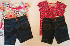 JUMPING BEANS GIRLS 2T 3T OR 4T BERMUDA TOP OUTFIT NWT