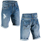 Mish Mash Rickshaw Distress Mens New Casual Denim Turn Up Shorts Was £59.99
