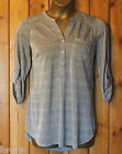 EVANS BLUE CHAMELEON SILVER GREY SPARKLE TUNIC/TOP/BLOUSE SIZE 16 - 26/28