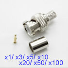 BNC Male Plug Crimp Coaxial Connector for Cables and CCTV  Video Camera Lot