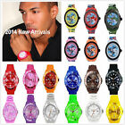 FREE JELLY BOYS GIRLS MENS WOMENS KIDS WRIST WATCH RUBBER SILICONE With Calendar