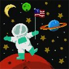 Planet Mars in Space Needlepoint Kit or Canvas (Kids)