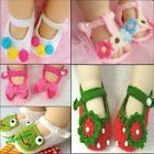 Baby Newborn Infant Girls Crochet Knit Socks Crib Cute Shoes Prewalkers 0-12M