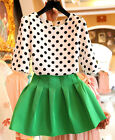 2pcs Set Sweet New Arrival Womens Tops + Short Skirt Evening Prom  Leisure Dress