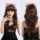 New Womens Fashion Long Full Wigs Wavy Curly Hair Cosplay Party Costume Wig