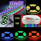 1M-20M RGB 5050 SMD Waterproof 150/300 LED Strip 24/44 IR Remote 12V Power licht