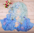 HotWomen's Bird Pattern Sun Block Chiffon Soft Long Wraps Shawl Beach Silk Scarf