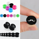 Pick 4-14MM Double Flare Moustache Flexible Silicone Ear Tunnel Plugs Earlets