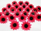 100pcs 50pcs Daisy Artificial Silk Flower Heads Wholesale Lots Wedding Party