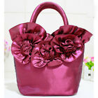 Fashion Women's Flower Portable Bag Lady's Mother Mobile Phone Bag Cloth Handbag