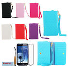 New PU Leather Wallet Case Cover For iPhone 6 Samsung Galaxy S3 S4 i9300 i9500