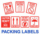 Box Labels - Fragile - Heavy - Keep Dry - Documents Enclosed - This Way Up