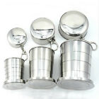 Fashion New Mini Stainless Steel Travel Portable Folding Collapsible Cup Camping