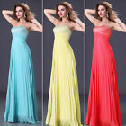 Cheap~ Long Chiffon Formal Prom Dress Bridesmaid Evening Party Ball Wedding Gown