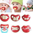 Hot Funny Dummy Dummies Pacifier Novelty Teeth Moustache Baby Chile Soother
