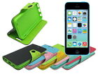 Leather Wallet Case Stand with Inner TPU Soft for iPhone 5c