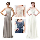 New Sexy Sleeveless Chiffon Evening Formal Party Wedding Prom Dress Ball Gown