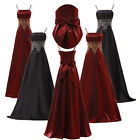 Women Satin Wedding Bridesmaid Quinceanera Birthday Party Evening Dress Ballgown