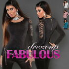NEW SEXY WOMEN'S JUMPER Size 8-10 S/M GLAMOUR SWEATER TOP STYLISH CLOTHING
