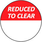 30mm Bright Red Reduced To Clear Blank Sale Price Stickers / Sticky Labels