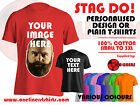 Stag Night Personalised Custom Design Printed T-Shirts or Plain T-Shirts
