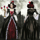 Halloween schwarze Vampir/Hexe/Zombie/Königin Dress Cosplay Costume Kostüm