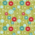 WILDWOOD - CIRCLE TREES - DUSTY YELLOW - DASHWOOD STUDIO COTTON FABRIC fox retro