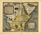 1570 EARLY EXPLORATION TRADE MAP AFRICA AND SAUDI ARABIA