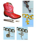 FC156 CHARMS TRINKETS FOR WOMENS BOOT WEAR CHAIN ANKLE ACCESSORY COUNTRY WESTERN