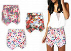Ladies New Floral Tropical Printed Festival Summer Skorts Shorts Skirt Size 8-14