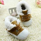 baby boots boys girls brown Snow winter Soft bottom Shoes Suit for 3-6 6-9-12Mth