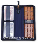LEATHER ZIPPED CASE CRIBBAGE SET WITH CRIB BOARD, MARKER PEGS & PLAYING CARDS