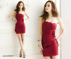 Fashion Women Design Strapless Backless Cocktail Party Dress UK Local Postage