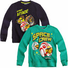 Boys Angry Birds Star Wars Sweatshirt Kids Long Sleeve Jumper New Age 6-12 Years