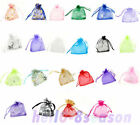 100Pcs 7x9cmLuxury Drawable Favor Organza Wedding Gift Bags&Pouches M0112