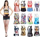 Hot Women 3D Graphic Print T-Shirt Top Vest Tank Party Club Bedroom BH BX01