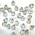 6mm Crystal Silver Shade Genuine Swarovski crystal 5328 / 5301 Bicone Beads