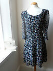 MONSOON Chiffon Floral Vintage Inspired Dress (New) Size 14 (Large)..
