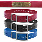Hunting Dog Puppy Name Collar Strap with Free Brass Name Plate Pet ID Tag