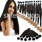 "Human Hair Weave Peruvian Straight 10""-30""Hair Extension,Grade 6A,Black Color"