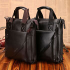 FAST FREE SHIP Men Stylish Genuine Real Leather Messenger Shoulder Bag Briefcase