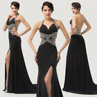 Super Sexy Blackless Ladies Wedding Banquet Party Evening Masquerade Prom Dress