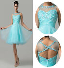 Princess Gowns Cocktail Evening Prom Pageant Birthday Party Short Dress Size6~20