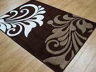 Flower Brown, Beige & Ivory Modern Hand Carved Rug. Small & Large Sizes.