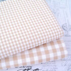 KENT 2 BEIGE -  YARN DYED GINGHAM - 9mm 3mm  CHECK COTTON FABRIC bunting