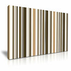 MODERN ABSTRACT ART Brown Stripes Canvas Framed Print ~ More Size