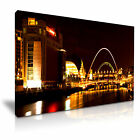 CITYSCAPE Europe UK Newcattle 1 Canvas Framed Printed Wall Art - More Size
