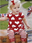 2014 Baby Girls Clothes 3M-3Y Top Shirt+Pants Striped Leggings Outfit Love Heart